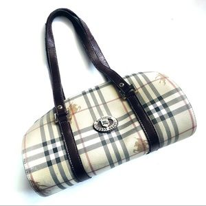 Burberry Vintage Nova Check Barrel Bag